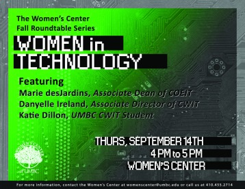 Women in Tech Flyer - print